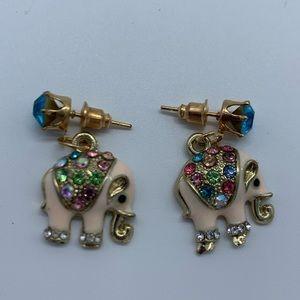 New crystal Elephant fashion earrings for women